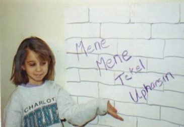 Ashley's Handwriting on the Wall Activity
