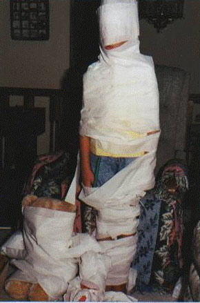Ashley as an Egyptian mummy