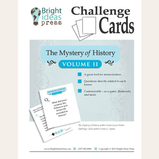 The Mystery of History Volume II Challenge Cards Memory Game