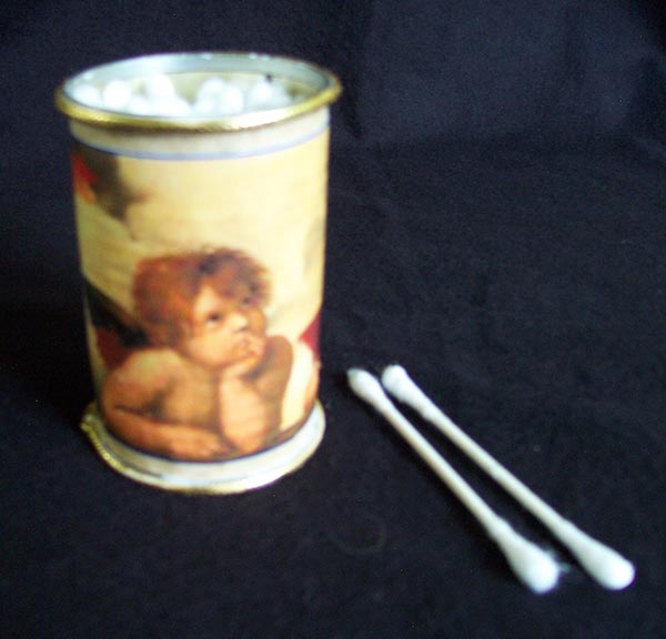 Raphael's Cherubs Cotton Swab Holder