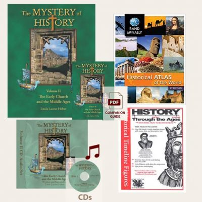 The Mystery of History Volume II Best Seller Bundle image with all the products included
