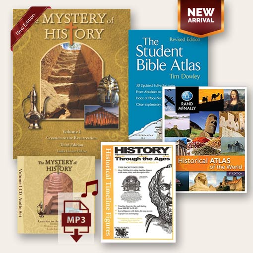 The Mystery of History Volume I Best Seller Bundle image with all the products included
