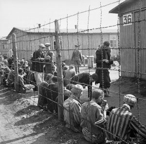 Holocaust prisoners at Bergen-belsen