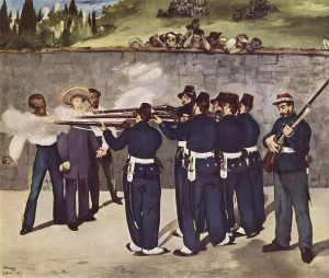 The Execution of Maximilian by Edouard Manet (A French Impressionist)