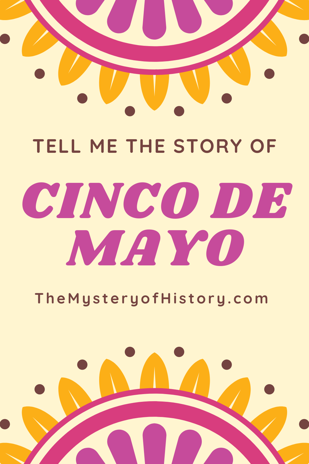 "When it comes to Cinco de Mayo, most of us have but a snippet of background on this highly festive event. If you have an inquisitive child saying, ""tell me the story of Cinco de Mayo,"" or you yourself have wondered what it's all about, then you're in the right place. Here's the story with a brief ""before and after"" for context."