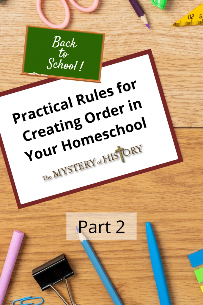 Linda Lacour Hobar share's more of the how-tos of discipline from my her experience, which should help create order in your homeschooling! Practical Rules for Creating Order Pt. 2