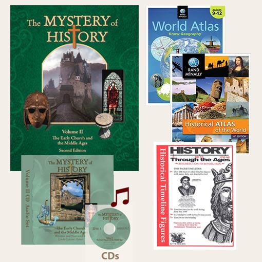 The Mystery of History Volume II Second Edition Best Seller Bundle image with all the products included