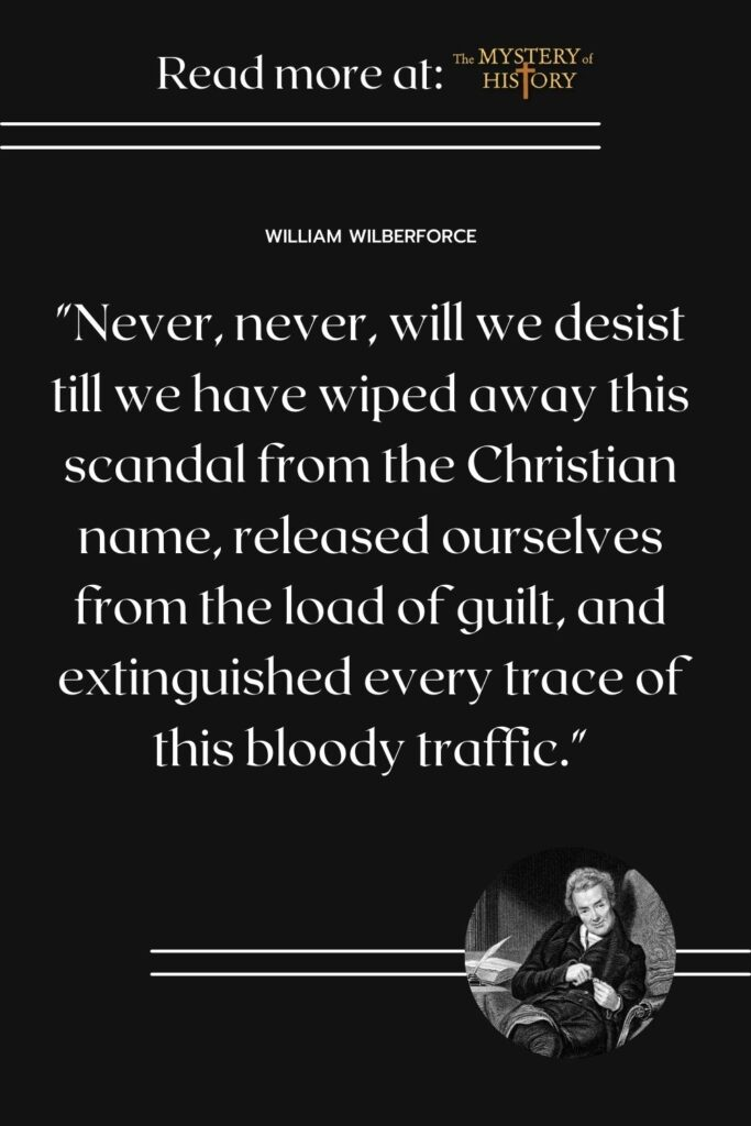 In 1789, William Wilberforce gave a strong speech to the House of Commons against slavery. This is part of the quote. Learn more about William Wilberforce and his fight against slavery by clicking through to the post.
